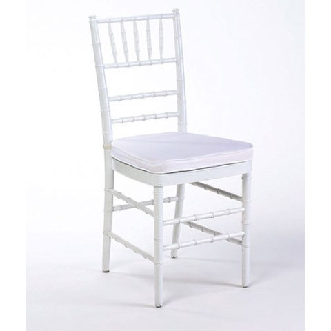 Chiavari Chair White with White Cushion