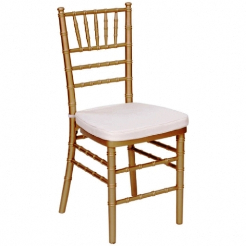 Chiavari Chair  Gold with Ivory Cushion