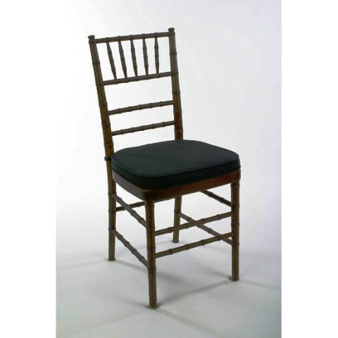Chiavari Chair  Mahogany with Black Cushion