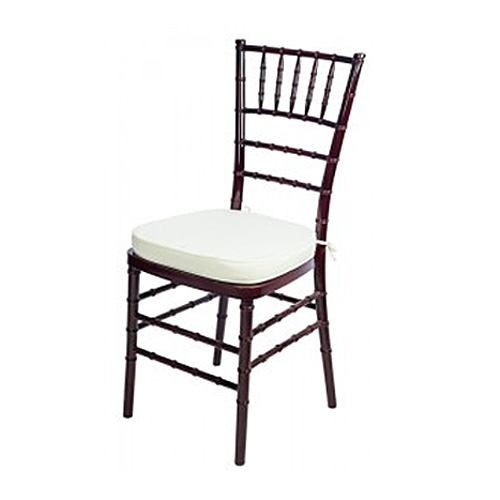 Chiavari Chair  Mahogany with Ivory Cushion