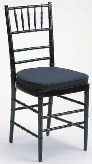 Chiavari Chair Black with Black Cushion