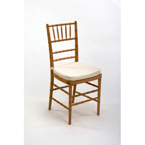 Chiavari Chair  Natural with Ivory Cushion