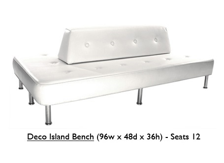 Deco Island Bench-White