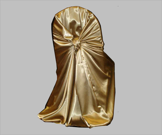 Gold Satin Chair Covers Universal