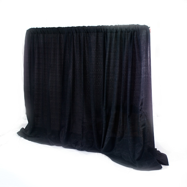 Pipe & Drape -10 ft High BLACK -per linear foot