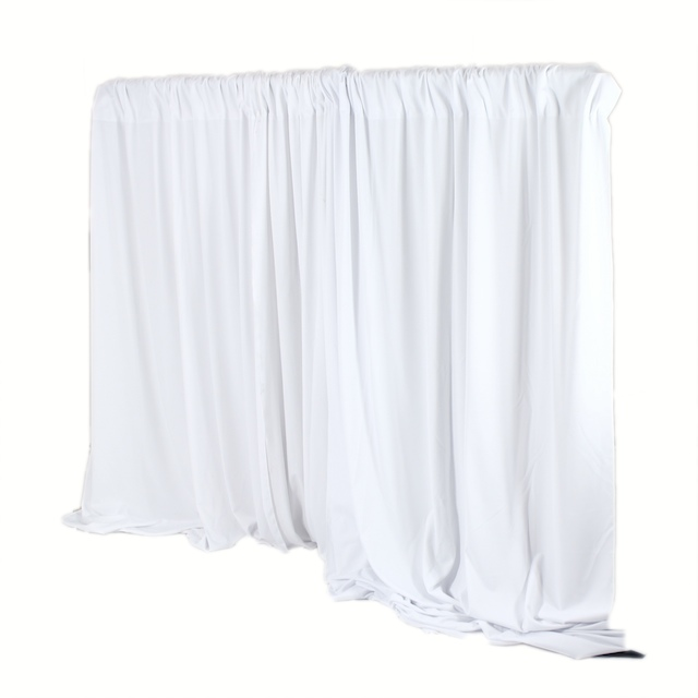 Pipe & Drape -10 ft High WHITE -per linear foot