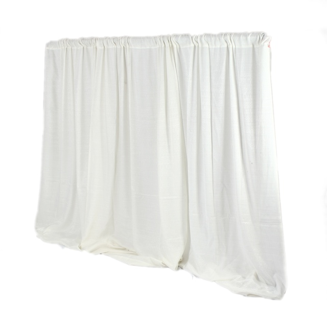 Pipe & Drape -8 ft High IVORY -per linear foot