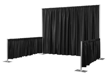 Pipe Drape Black 8'