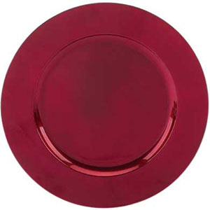 Charger Plates Red