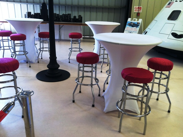 Spandex Cocktail Table White