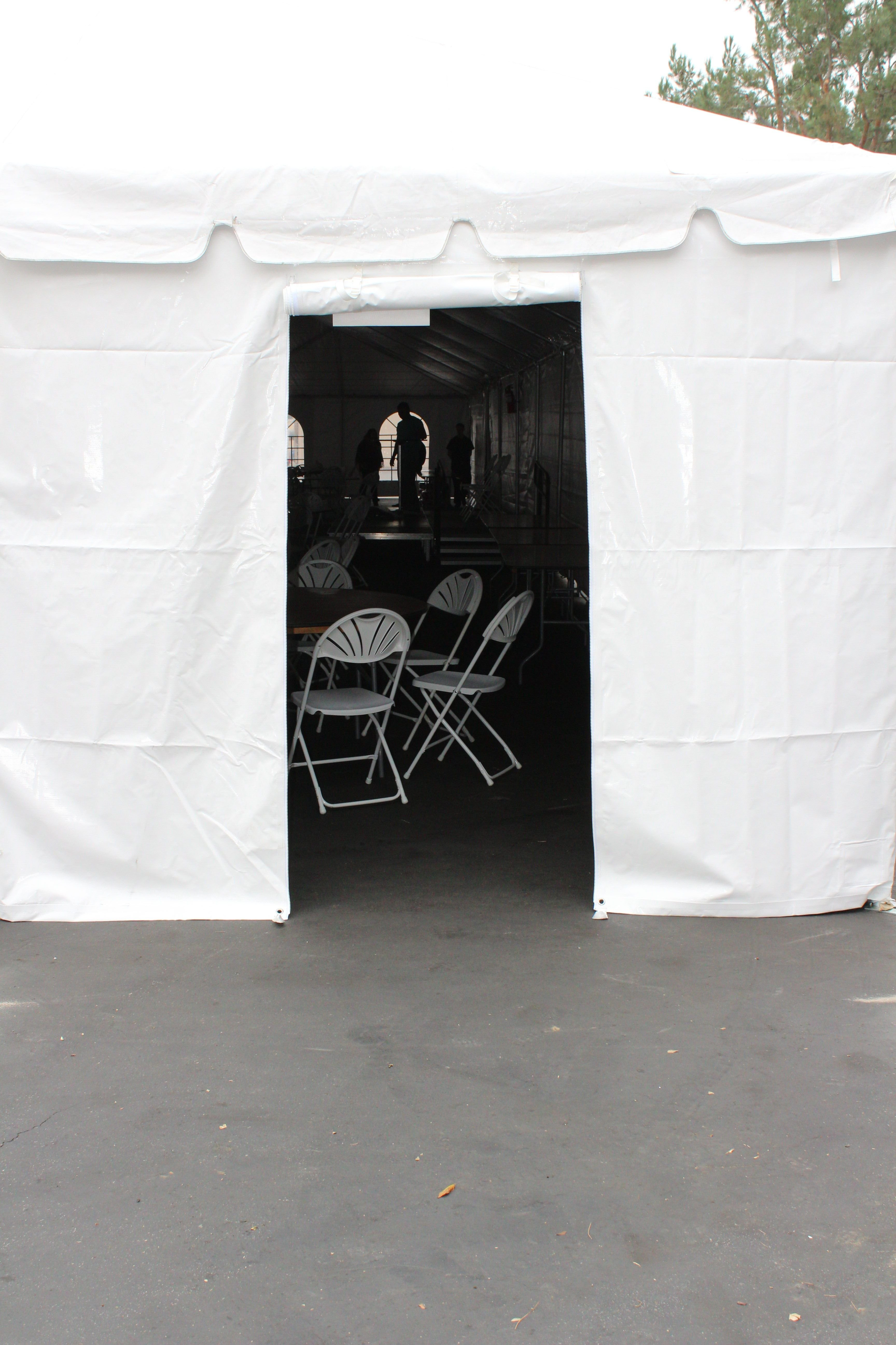 Tent solid white Door
