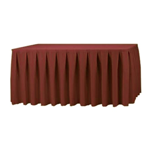 14ft Polyester Table Skirt Burgundy