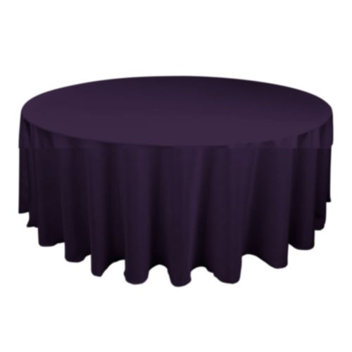90 inch Round Polyester Tablecloth Eggplant