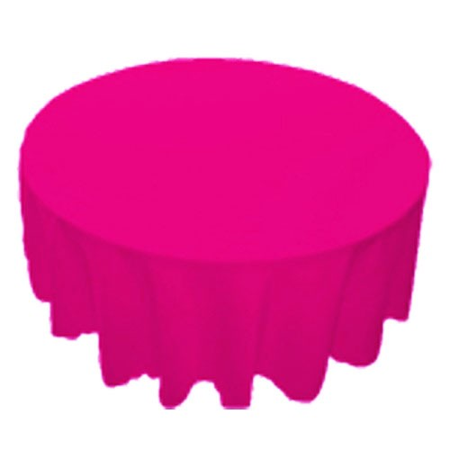120 inch Round Polyester Tablecloth Fuchsia