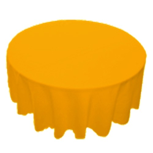 120 inch Round Polyester Tablecloth Gold