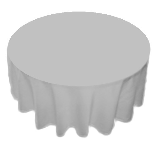90 Inch Round Polyester Tablecloth Grey