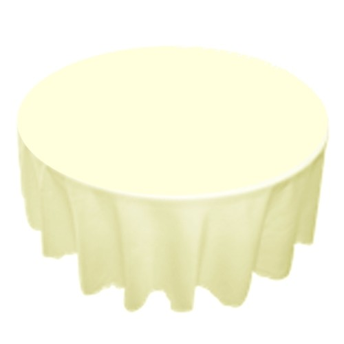 Wonderful 120 Inch Round Polyester Tablecloth Ivory