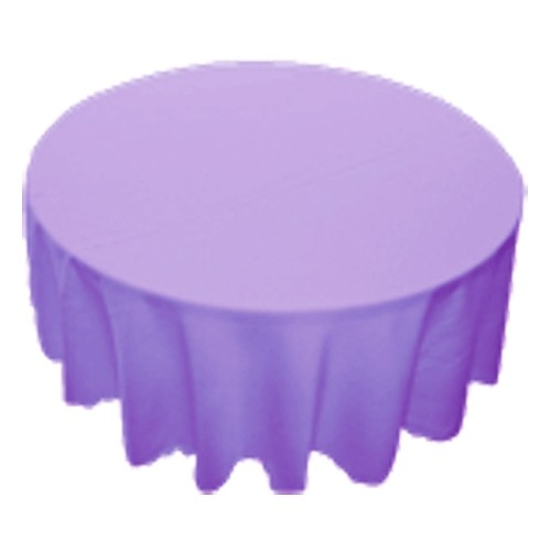90 inch Round Polyester Tablecloth Lavender