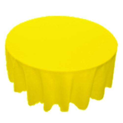120 Inch Round Polyester Tablecloth Lemon