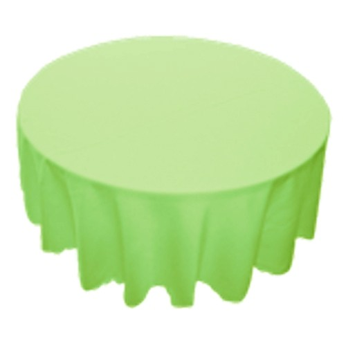 90 inch Round Polyester Tablecloth Lime