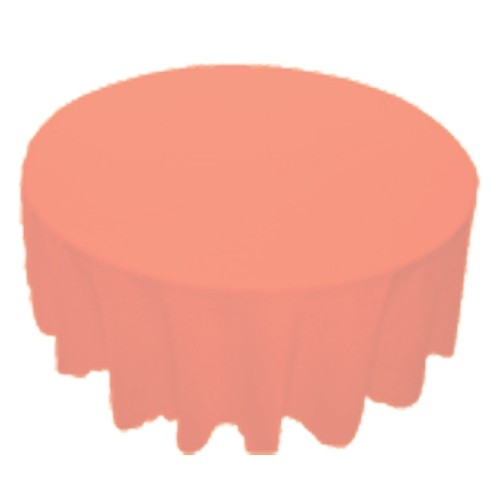 120 inch Round Polyester Tablecloth Peach