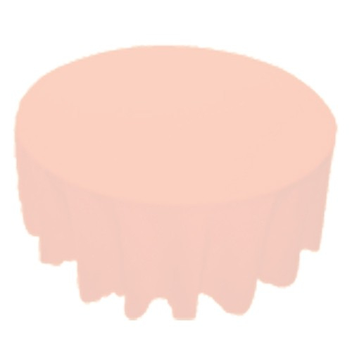 120 inch Round Polyester Tablecloth Pink