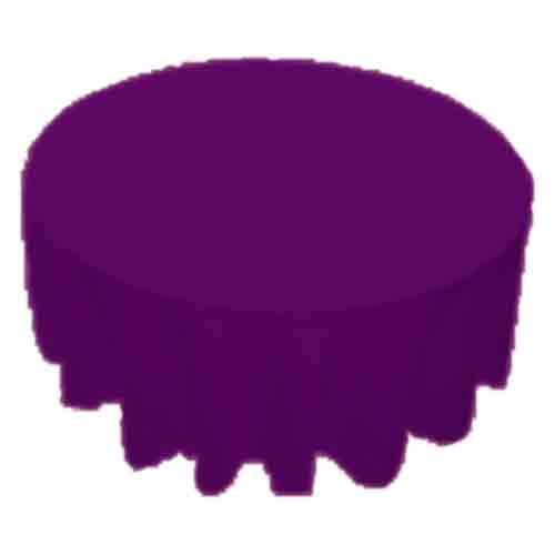 120 inch Round Polyester Tablecloth Purple