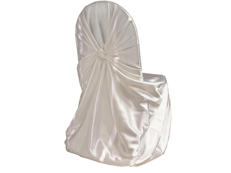 White Satin Chair Covers Universal